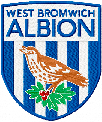West Bromwich Albion Football Club logo machine embroidery design