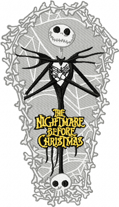 The Nightmare Before Christmas machine embroidery design