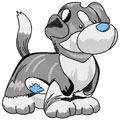 Big Grey Dog machine embroidery design