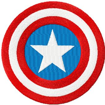 Captain America Shield Machine Embroidery Design