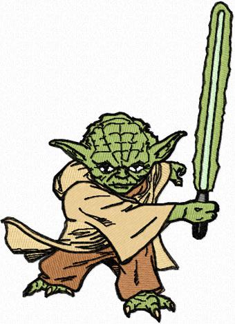 Yoda attack machine embroidery design for clothes yoda attack machine embroidery design dt1010fo