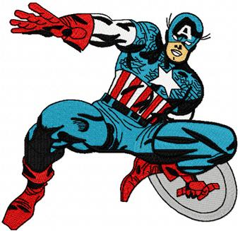 Captain America Machine Embroidery Design