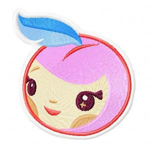 Tokidoki Apple machine embroidery design