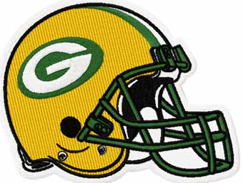 Green Bay Packers helmet machine embroidery design