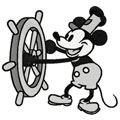 Mickey Mouse old style machine embroidery design