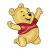 Baby Pooh happy machine embroidery design