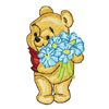 Baby Pooh with flowers
