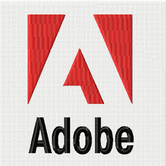 Adobe logo machine embroidery design