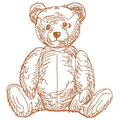 Old teddy 3 machine embroidery design