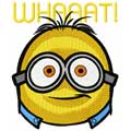 Minion whaaat machine embroidery design