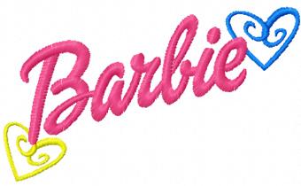 barbie logo machine embroidery design barbie logo font name barbie logo font name