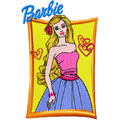 Barbie machine embroidery design