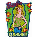 Barbie Summer Style machine embroidery design