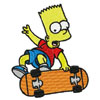 Bart with scateboard