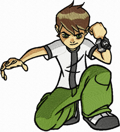 Ben 10 I*m ready machine embroidery design