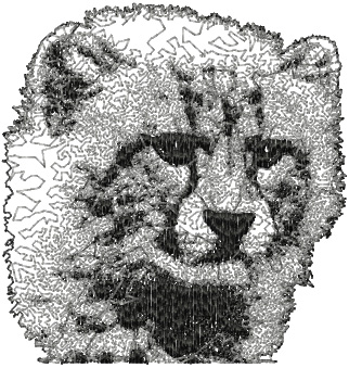 snow leopard free dog embroidery design