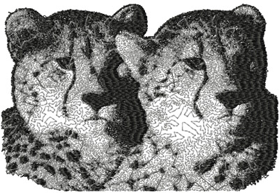 two leopards machine embroidery design