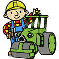 Bob the Builder with tractor