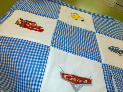 cars embroidery quilt designs
