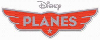 Disney Planes logo machine embroidery design