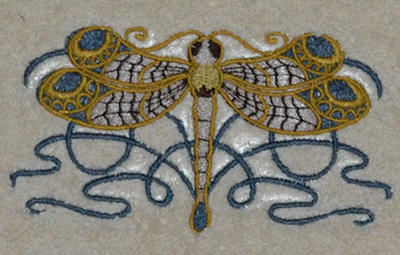 celtic dragonfly machine embroidery design