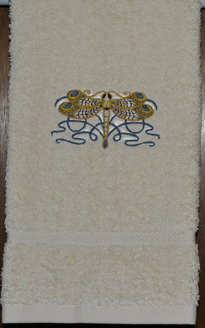 Celtic embroidered towel
