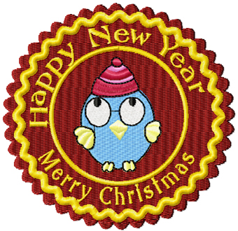 Christmas funny label machine embroidery design