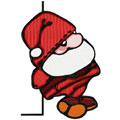 Christmas Santa machine embroidery design