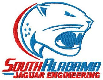 South Alabama University logo machine embroidery design