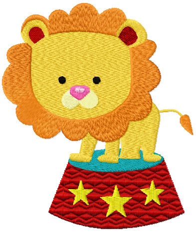 lion in the circus free machine embroidery
