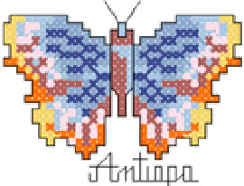butterfly free cross stitch embroidery design