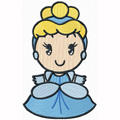Disney Cuties Aurora machine embroidery design