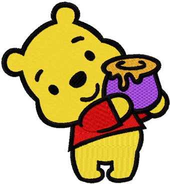 Cartoon Baby Pooh Bear