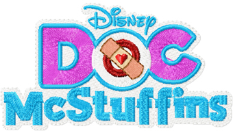 Doc McStuffins logo machine embroidery design