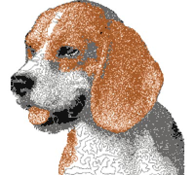 beagle free dog embroidery design