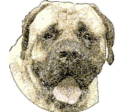 free Bullmastiff dog sfumato stitch