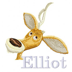 Elliot open season embroidery design