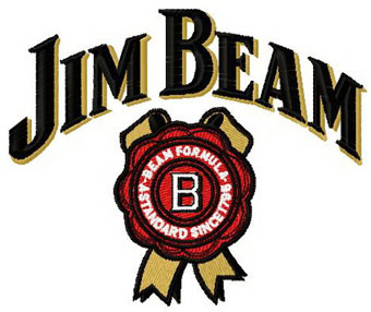 Jim Beam logo machine embroidery design
