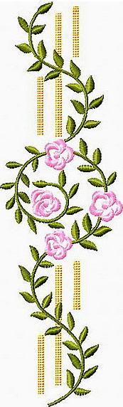 Flower border machine embroidery design