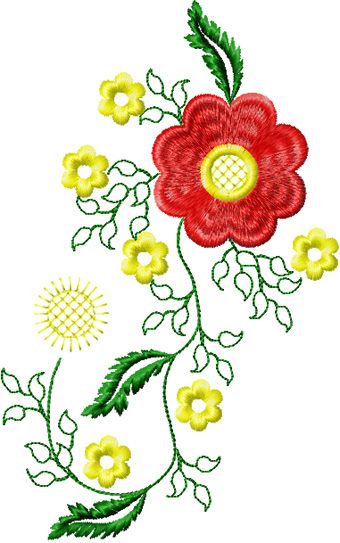 Flowers small element machine embroidery design