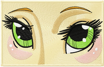 Anime Eyes Machine Embroidery Design
