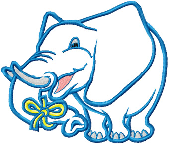 Free Big Blue Elephant machine embroidery design