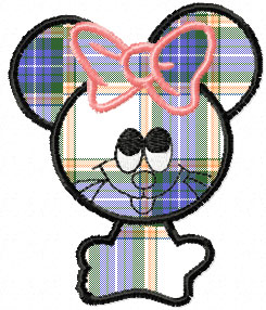 cute mouse free applique embroidery design