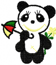 Free small panda machine embroidery design