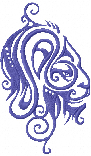 Zodiac sign lion free machine embroidery design