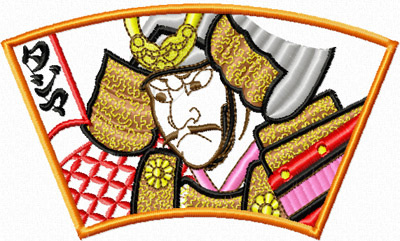 Samurai free machine embroidery design