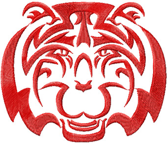 Tribal Tiger  free embroidery design