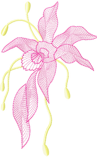 Air Flowers free machine embroidery design