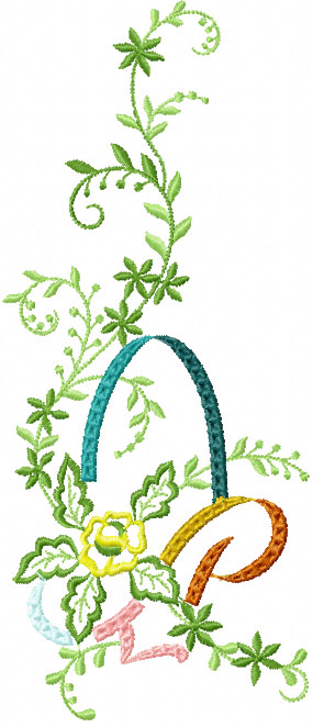 Free Flower Basket Embroidery Designs : Basket of flowers free machine embroidery design