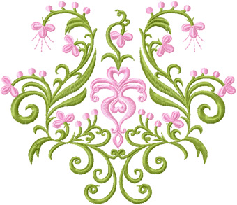 Flowers panel free machine embroidery design